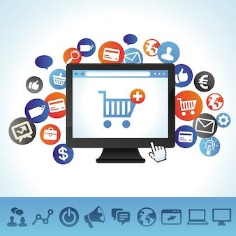 Concetto di acquisto online vettoriale