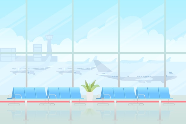 Concetto di aeroporto chiuso