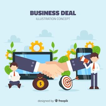 Concetto di affare di affari disegnati a mano