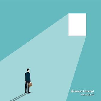 Concetto di affari. uomo d'affari guardando la finestra