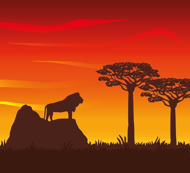 Concetto di africa con disegno dell'icona