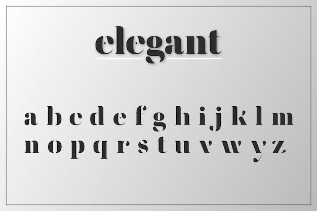 Concetto di alfabeto minimal elegante