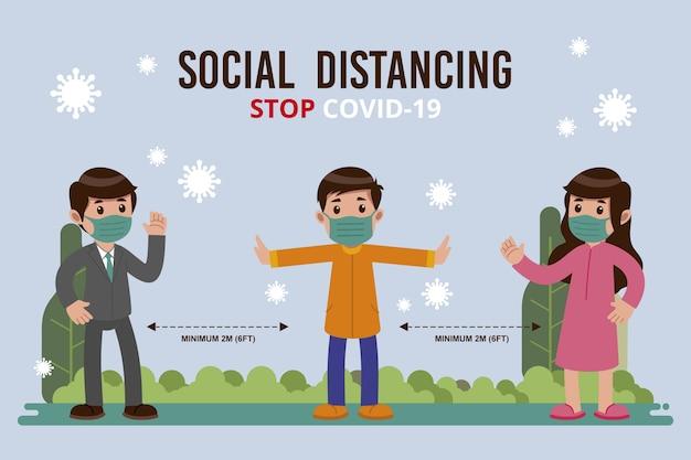 Concetto di allontanamento sociale