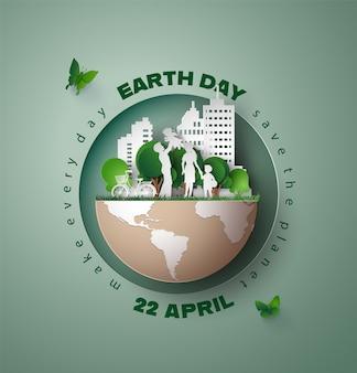 Concetto di ambiente mondiale e giornata terrestre,