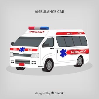 Concetto di ambulanza piatta