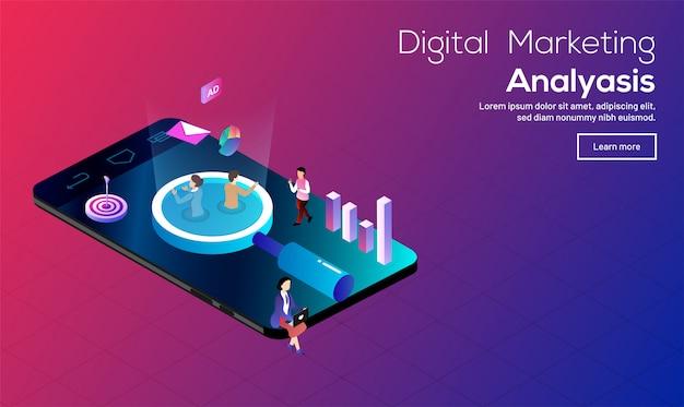Concetto di analisi del marketing digitale.