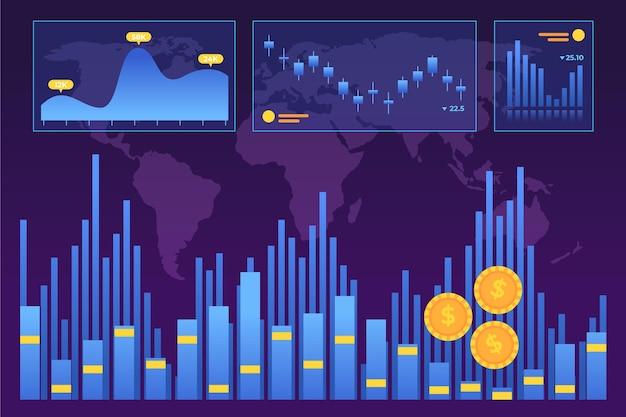 Concetto di analisi del mercato azionario