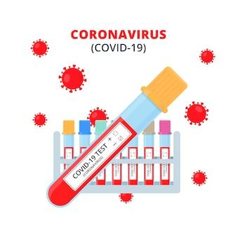 Concetto di analisi del sangue di coronavirus