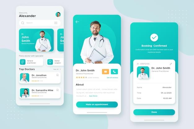 Concetto di app di prenotazione medica