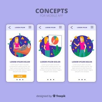 Concetto di app mobile disegnata a mano