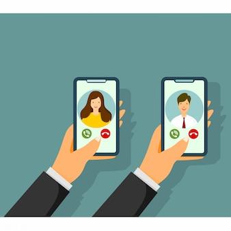 Concetto di applicazione di chat video