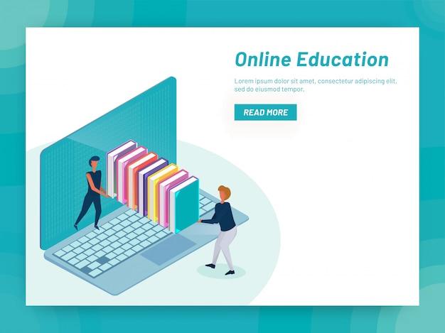 Concetto di apprendimento online.