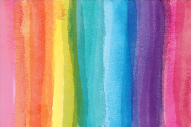 Concetto di arcobaleno ad acquerello