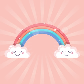 Concetto di arcobaleno in design piatto