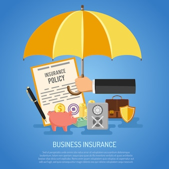Concetto di assicurazione aziendale