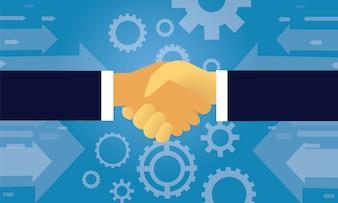 Concetto di associazione di accordo di affare di affari