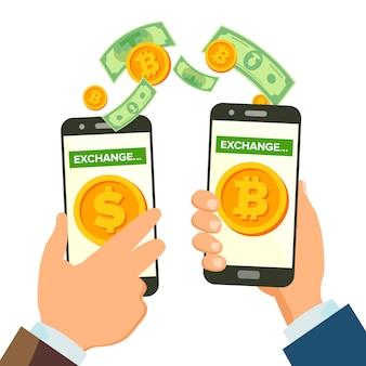 Concetto di attività bancarie di scambio di denaro
