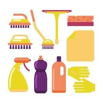 Concetto di attrezzature per la pulizia delle superfici