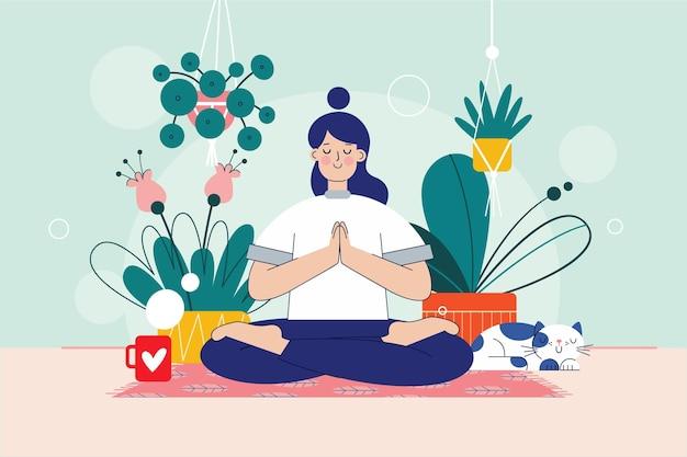Concetto di auto meditazione