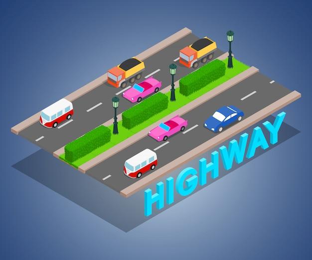 Concetto di autostrada