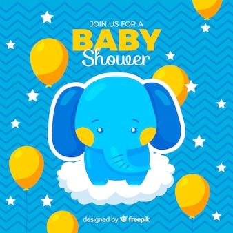 Concetto di baby shower per ragazzo