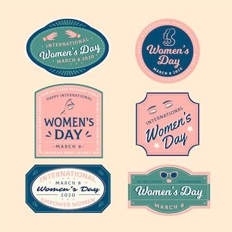 Concetto di badge per la festa della donna