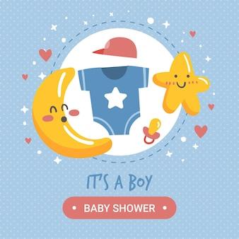 Concetto di bambino doccia ragazzo