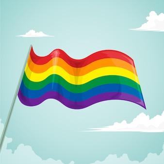 Concetto di bandiera del giorno dell'orgoglio