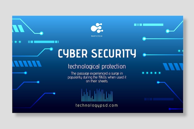 Concetto di banner di sicurezza informatica