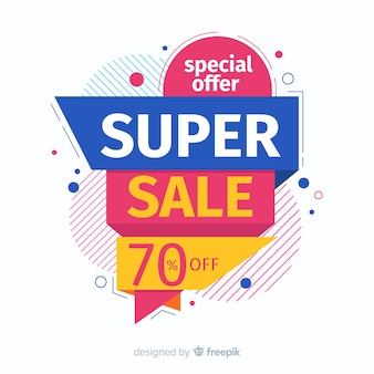 Concetto di banner di vendita super promozionale