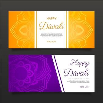 Concetto di banner diwali