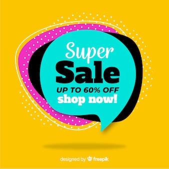 Concetto di banner moderno super-vendita