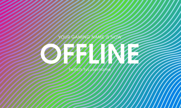Concetto di banner twitch offline