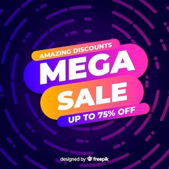 Concetto di banner vendita mega