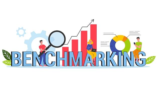 Concetto di banner web di benchmarking. idea di affari
