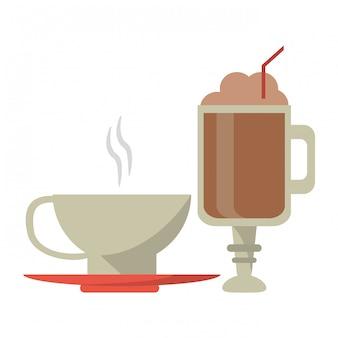 Concetto di bevande al caffè