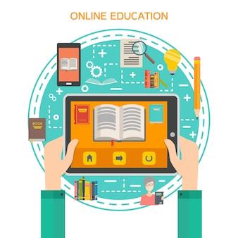 Concetto di biblioteca online