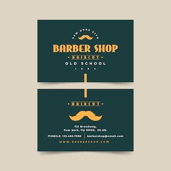 Concetto di biglietto da visita per negozio di barbiere
