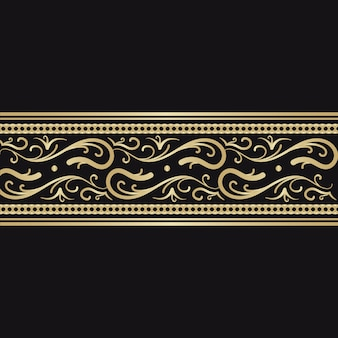 Concetto di bordo ornamentale dorato