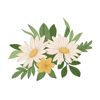 Concetto di bouquet floreale vintage