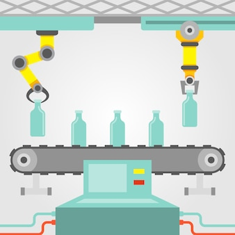 Concetto di braccio robotico