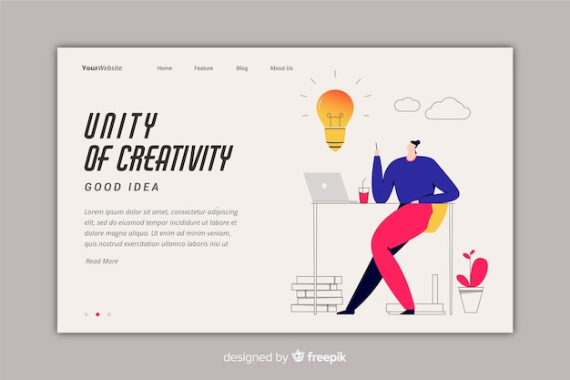 Concetto di brainstorming per landing page
