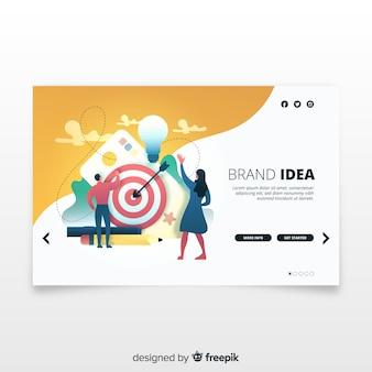 Concetto di branding per la pagina di destinazione