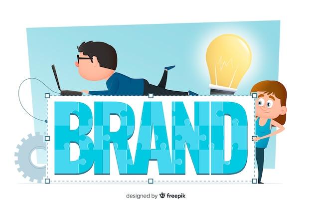 Concetto di branding per landing page