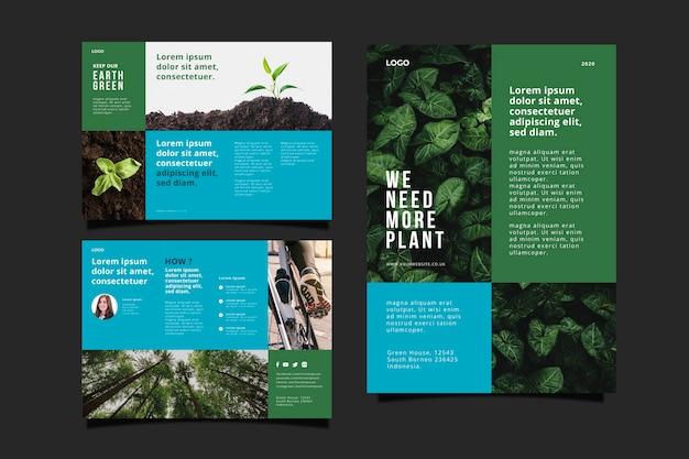 Concetto di brochure ambientale