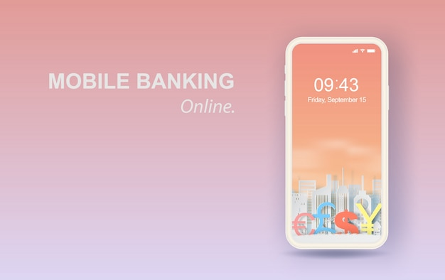 Concetto di business banking online di finanza aziendale