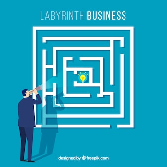 Concetto di business con labirinto