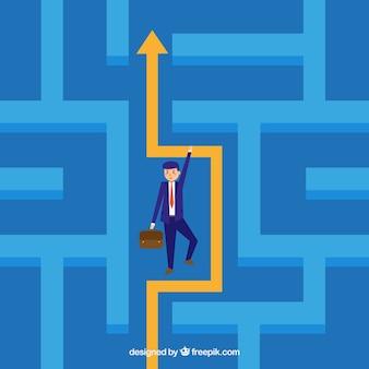 Concetto di business con labirinto