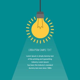 Concetto di business con lampadine come simbolo dell'idea.