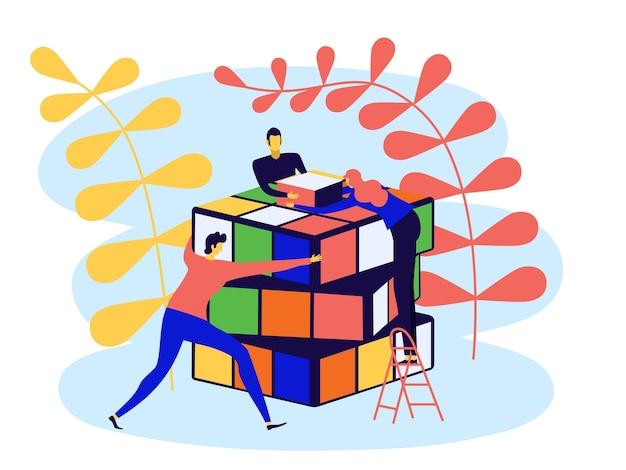 Concetto di business design piatto per il marketing da utilizzare per il web design.